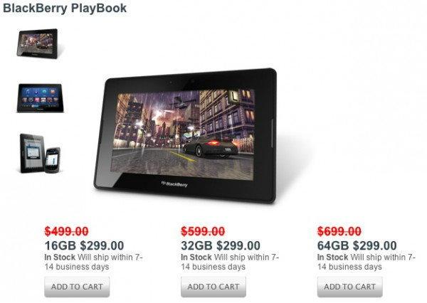 RIM จัดโปรโมชั่นลดราคา BlackBerry PlayBook ทุกรุ่นเหลือเท่ากันเพียง 9,000 บาท