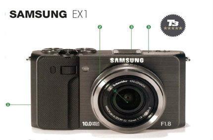 SAMSUNG EX1บอดี้ชั้นเยี่ยมความไวแสงสูงถึง ISO 3200