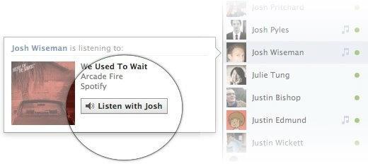 เฟซบุ๊คให้คุณชวนเพื่อนฟังเพลงด้วยกัน
