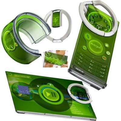 โนเกีย เตรียมจดสิทธิบัตร Nokia Morph มือถือเปลี่ยนร่างได้