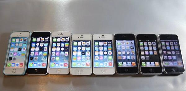 [คลิปวีดีโอ] เปรียบเทียบความเร็วระหว่าง iPhone 5S, iPhone 5C กับ iPhone ทุกรุ่น