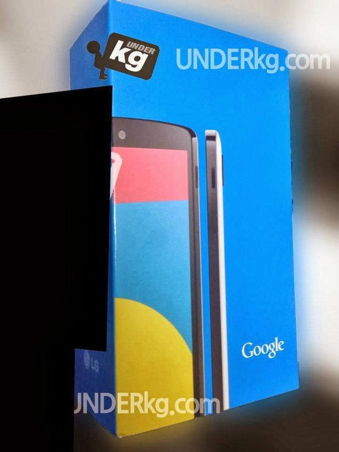 ภาพหลุดกล่อง Nexus 5 ตัวเครื่องสีขาว