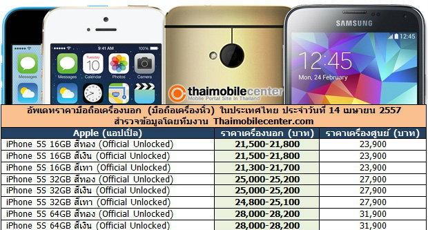 อัพเดทราคามือถือเครื่องนอก (มือถือเครื่องหิ้ว) ทุกรุ่น ที่ยี่ห้อ ในประเทศไทย