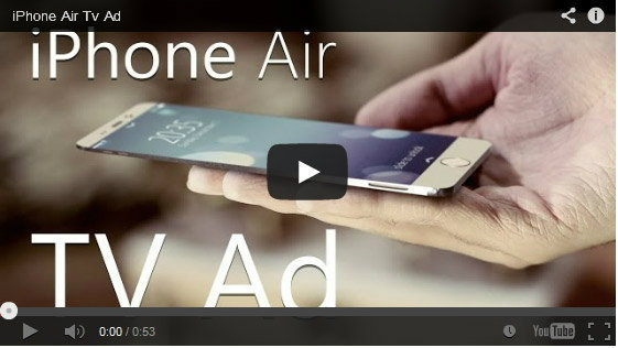 คอนเซป iPhone Air ที่บางเพียง 1.5 มม.และ iPhone 6c (Curve) ที่มาพร้อมหน้าจอโค้งงอ (ชมคลิป)