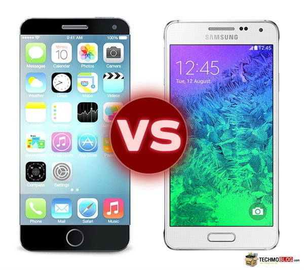 iPhone 6 vs Samsung Galaxy Alpha ลองเทียบสเปค มือถือโลหะ สูสีกันแค่ไหน