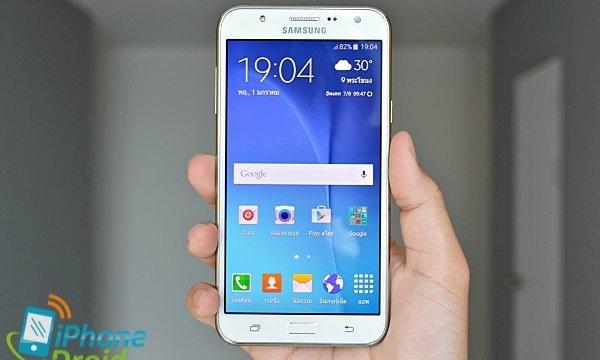 รีวิว Samsung Galaxy J7 เซลฟี่มุมกว้าง กล้องหน้ามีแฟลช และซีพียู Octa-core 1.5GHz