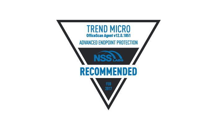 Trend Micro Endpoint Security ได้รับสถานะแนะนำจาก NSS Labs