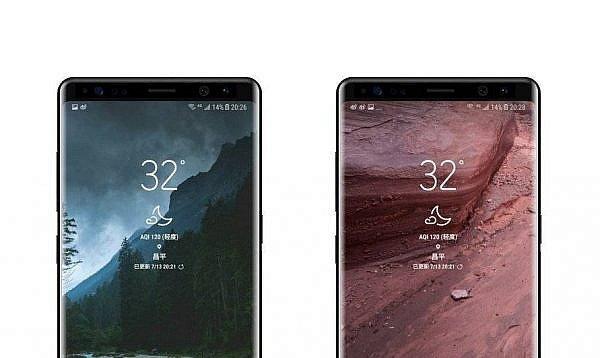 หลุดภาพด้านหน้าล่าสุดของ Samsung Galaxy Note 8