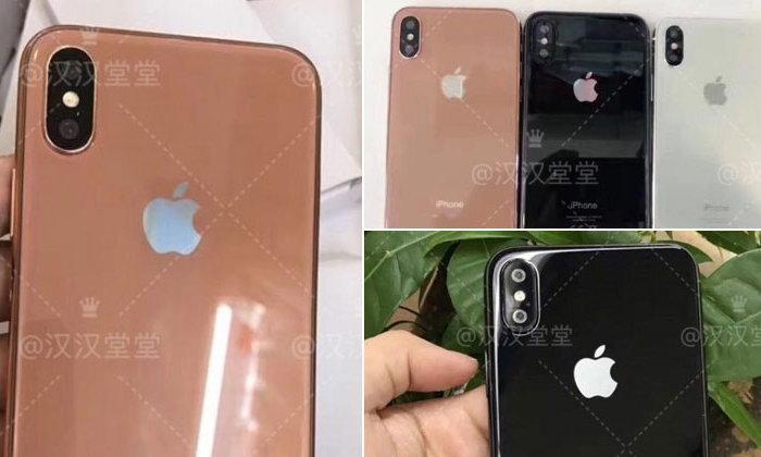 เผยภาพ iPhone 8 เครื่องดัมมี่สีใหม่ Copper Gold และบอดี้แบบกระจก