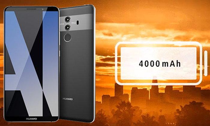 Huawei Mate 10 ยืนยันมีแบตไซส์ใหญ่ 4000 mAh พร้อมหลุดภาพตัวเครื่องขณะใช้งานจริง