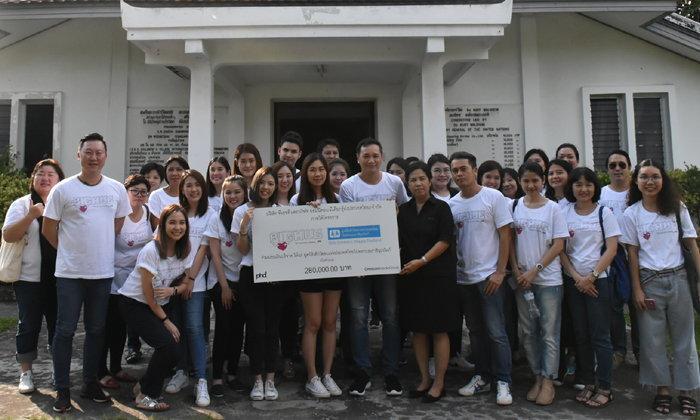 บริษัทพีเอชดี และออมนิคอมมีเดียกรุ๊ป ประเทศไทย จำกัด ร่วมบริจาคเงินให้กับมูลนิธิเด็กโสสะ