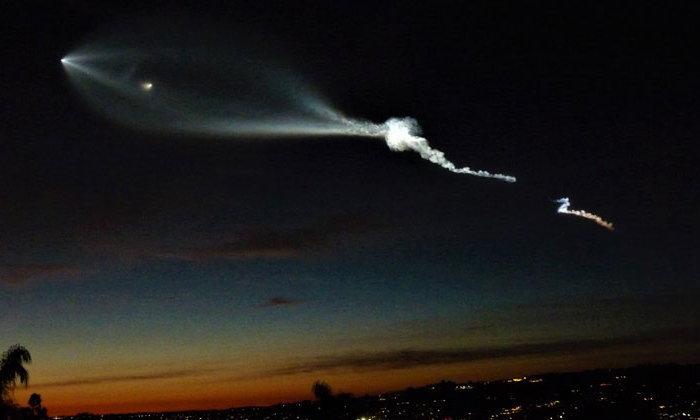 แห่ถ่ายคลิป UFO แสงบนท้องฟ้าเหนือเมืองแอลเอ ด้านทางการออกมาชี้แจงเป็นจรวดรุ่นใหม่ของ SpaceX