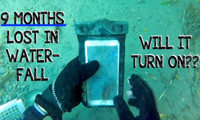 งมของที่ใต้น้ำตกพบ iPhone 6s Plus จมน้ำอยู่ 9 เดือน นำเครื่องขึ้นมาเปิดได้