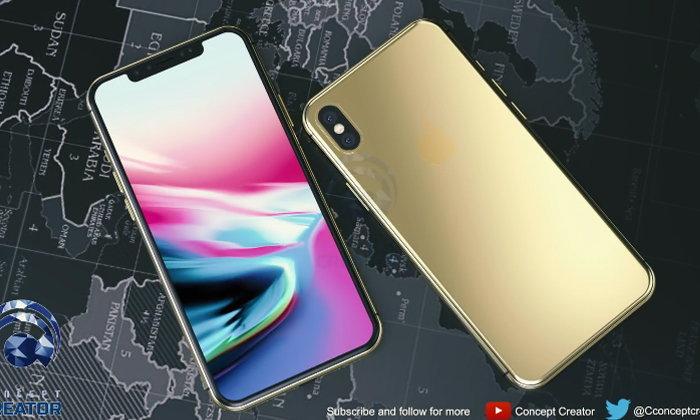 คอนเซ็ปต์ iPhone X Plus สีทองใหม่