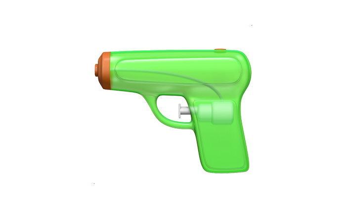 Twitter เผยโฉม Emoji ปืนฉีดน้ำใช้แทนปืนจริง เริ่มใช้ได้แล้ววันนี้