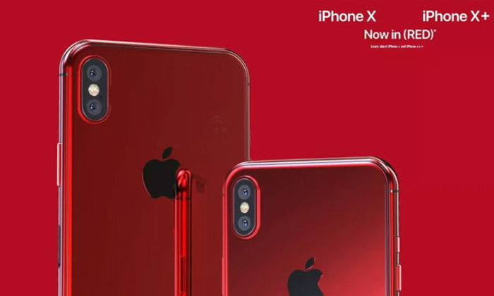 แนวคิด iPhone X / X+ สีแดง (PRODUCT) RED