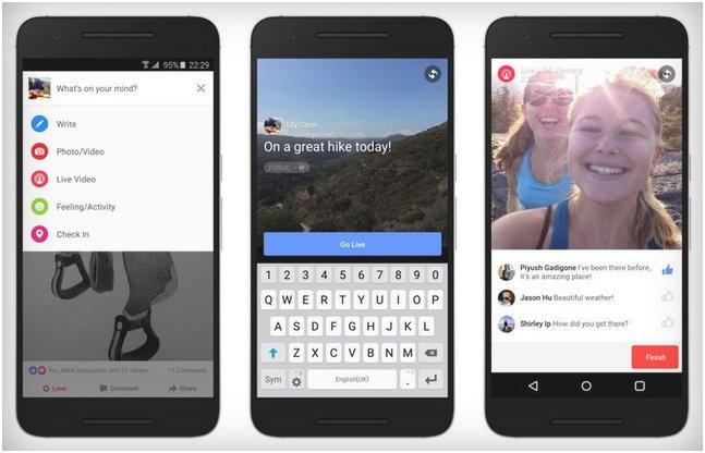 สาวก Android เตรียมตัว Live Streaming ผ่าน Facebook ได้แล้ว