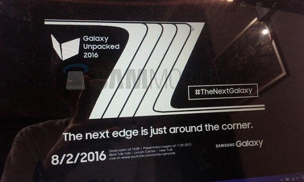 หลุดบัตรเชิญ Samsung Unpacked 2016 พร้อมเผยโฉม Galaxy Note 7  2 สิงหาคมนี้