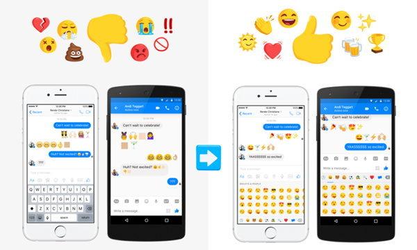 Facebook Messenger ปรับการแสดง emoji ให้เหมือนกันทุกแพลตฟอร์มแล้ว