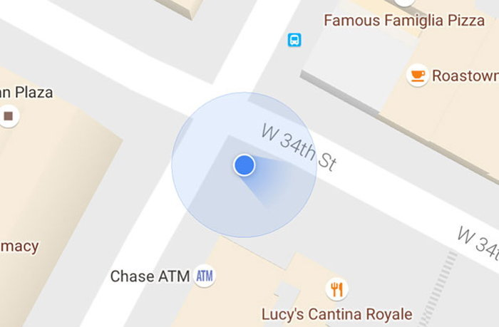 google-maps-blue-beam