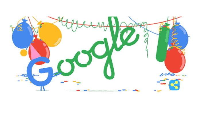 Google เปลี่ยน Doodle ใหม่เป็นการฉลองครบรอบ 18 ปีกำเนิด Google
