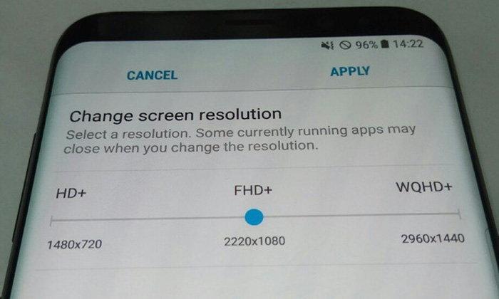 เผยความละเอียดของหน้าจอ Samsung Galaxy S8 ยังคงปรับได้ เริ่มที่ Full HD+