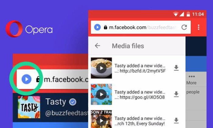 Opera Mini เพิ่มปลั๊กอินช่วยดาวน์โหลด File ผ่าน Download Helper