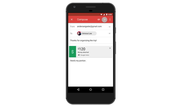 Google เพิ่ม ความสะดวกสำหรับคนใช้ Android โอนเงินผ่าน Gmail ได้แล้ววันนี้