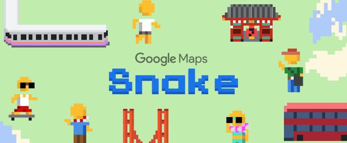 """Google Maps อัพเดตใหม่ เพิ่มเกมงู """"Snake"""" ให้เล่นบนแผนที่"""
