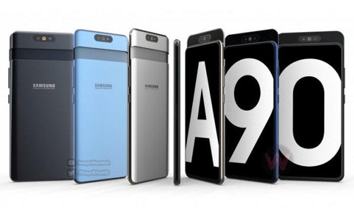 """ชมวิดีโอเรนเดอร์ """"Samsung Galaxy A90"""" ที่แปลกตา ดีไซน์กล้องสไลด์ หมุนสลับหน้า/หลังได้"""