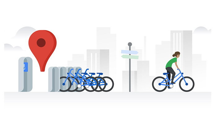 Google Mapเริ่มทดสอบฟีเจอร์ค้นหารถจักรยานแบบแชร์กันว่าแต่ละที่เหลือกี่คัน
