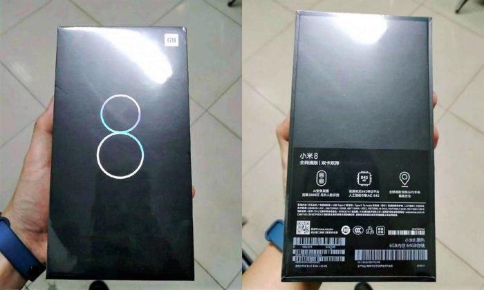 ภาพหลุดกล่องบรรจุภัณฑ์ Xiaomi Mi 8  ยืนยันมีกล้องหลังคู่ GPS คู่ และ Snapdragon 845