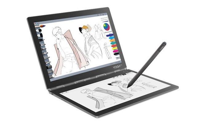 """IFA 2018 : Lenovo เปิดตัว Yoga Book C930 แล็ปท็อป """"2 จอ"""" ที่ใช้เป็นคีย์บอร์ด E Ink ได้"""