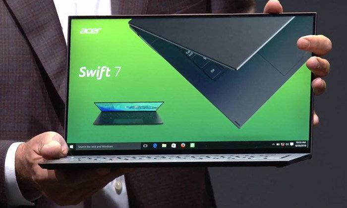 """Acer เปิดตัว """"Swift 7"""" รุ่นใหม่ ที่บางเฉียบน้อยกว่า 10 มิลลิเมตร กับสเปคแรง"""