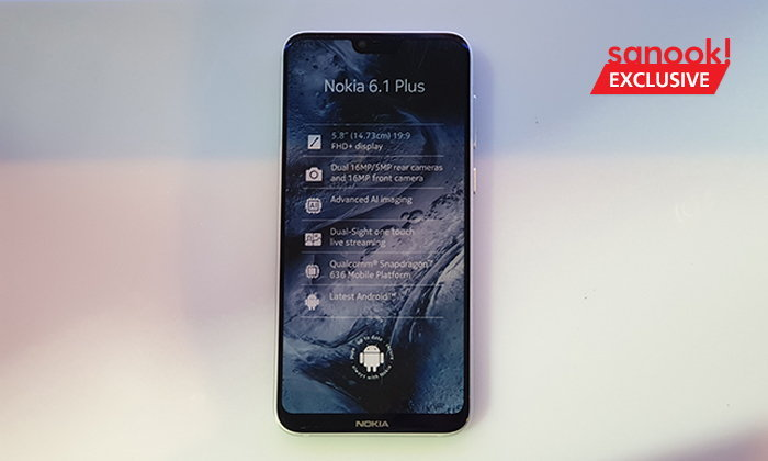 """[Hands On] """"Nokia 6.1 Plus"""" มือถือสุดสวยพร้อมรอยบากและราคาไม่แพง"""