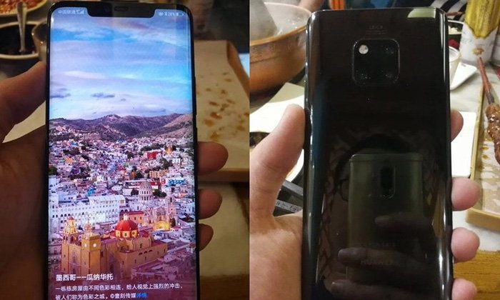 """ชมภาพ """"Huawei Mate 20 Pro"""" สีดำแบบเต็มๆ ก่อนเปิดตัวสัปดาห์หน้า"""