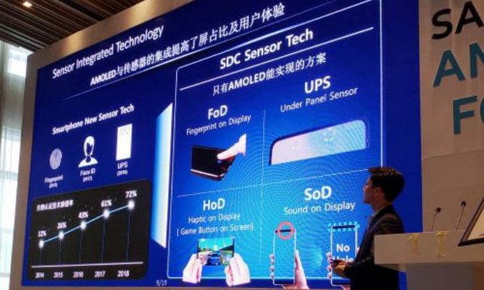 หลุดจอภาพ Samsung ที่จะมีในหน้าจอทั้งหมดฝั่งลงไปในหน้าจอ