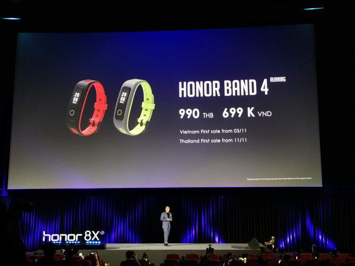 เปิดตัว Honor Band 4 Running สายรัดข้อมือสุขภาพเน้นการวิ่ง ราคาแค่ 990 บาท