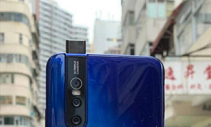 """ชมภาพหลุด """"vivo V15 Pro"""" สีน้ำเงิน สมาร์ทโฟนรุ่นใหม่ที่มาพร้อมกล้องเซลฟี่แบบ Pop-up"""