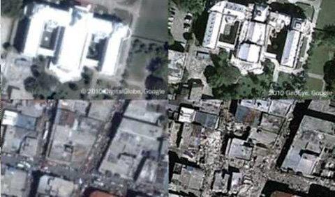 """กูเกิ้ลเอิร์ธเผยภาพความเสียหายใน""""ไฮติ"""""""