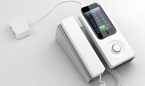 iPhone Desk Dock เปลี่ยนโฉมมาเป็นโทรศัพท์ตั้งโต๊ะ