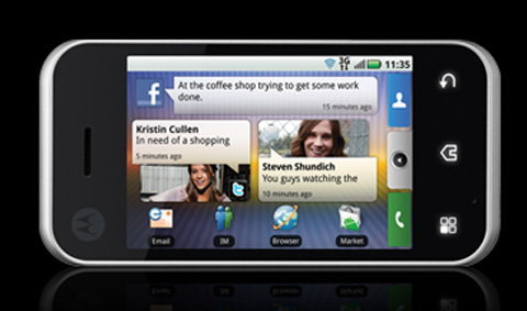 Motorola Backflip แอนดรอยด์พับได้
