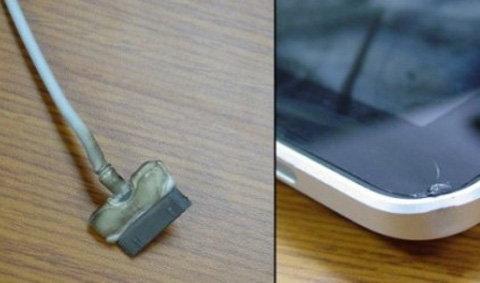 ด่วน!!! สาย USB ของ iPad ร้อนจนละลาย