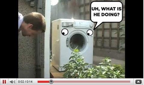 """ถ้าเครื่องซักผ้าซัก""""ก้อนอิฐ""""จะเป็นยังไง?"""