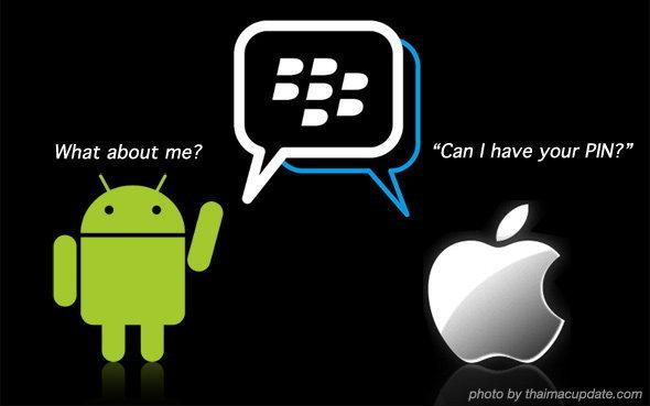 PIN พร้อม!? ลือหึ่ง BlackBerry Messenger เตรียมลง iOS