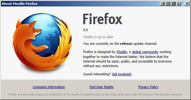 Firefox 6 ตัวจริง ออกแล้วทั้งบนเดสก์ท็อปและมือถือ