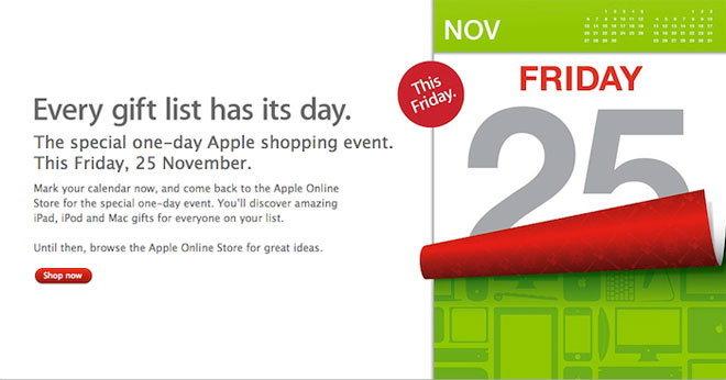 ลดราคา iPad 2, iPod Touch 4G, MacBook ทุกรุ่นวันศุกร์ที่ 25 พ.ย. 2554 นี้วันเดียวเท่านั้น!