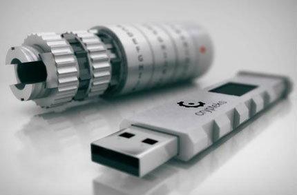 Crypteks USB แฟลชไดร์ฟดีไซน์สุดเท่ถอดรหัสฮาร์ดแวร์เพื่อใช้งาน