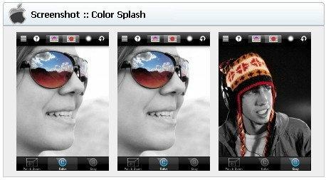 App Protography (แอพฯตกแต่งภาพ) iOS : Color Splash