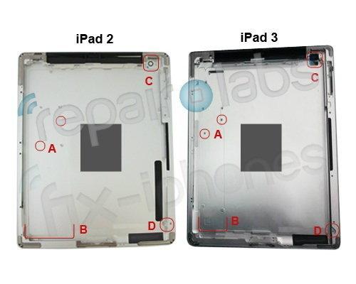 ภาพลับชิ้นส่วน iPad 3 มาร้อมจอ Retina แบบใหม่
